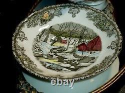 Christmas Gift England'Friendly Village' Cups Saucers Creamer 28 JOHNSON BROS