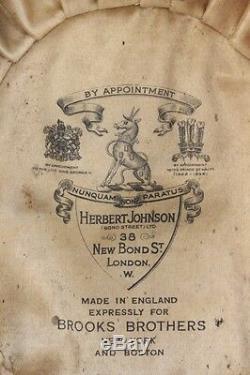 Classic Herbert Johnson for Brooks Brothers Bowler Hat Sz Sm 6 3/4