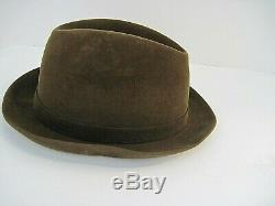 Classic Herbert Johnson for Brooks Brothers Hat Brown Size 7 1/4 Made In England