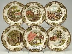 Dinner Plate Set Johnson Brothers Friendly Village 28-Piece Dishwasher Safe