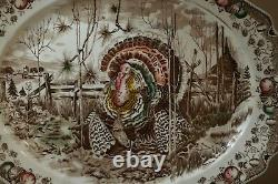 Early 1900, s Johnson Bros His Majesty Oval Turkey Platter 17x14 England