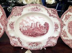 Edles Speiseservice Johnson Bros England Old Britain Castles rot 23 teilig top