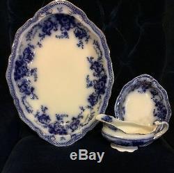 Flow Blue Johnson Brothers Richmond Pattern