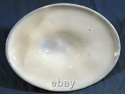Flow Blue Late Victorian Oblong Covered Vegetable Bowl GEORGIA Johnson Bros 1910