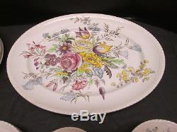 Garden Bouquet Johnson Bros Windsor Ware 45 Pieces Vintage English China 1940-70