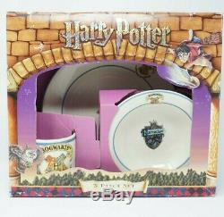 Harry Potter Johnson Brothers 3 PC Set Dinner Plate Cereal Bowl Mug Cup RARE