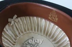Herbert Johnson Bond St London x Brooks Brothers Black Felt Bowler Antique 7 1/4
