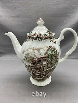 Heritage Hall Brown by Johnson Brothers COFFEE POT & Lid French Provincial