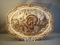 His Majesty Turkey Platter Johnson Bros Ex Cond England