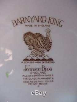 Huge Johnson Brothers BARNYARD KING 20 1/2 x 16 Turkey Platter
