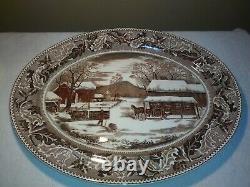 Huge Johnson Brothers HOME FOR THANKSGIVING Historic America Turkey Platter