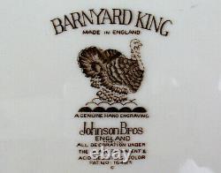 Huge Turkey Platter Johnson Brothers Barnyard King England Turkey