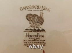 I2 Johnson Brothers Barnyard King Huge Turkey Serving Platter 20 RARE
