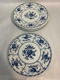 Indies Made in England by Johnson Bros Ironstone Dinner Plates Lot of 6, 2 sizes