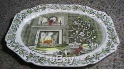JOHNSON BROS MERRY CHRISTMAS Platter 20 1/2 Turkey Platter