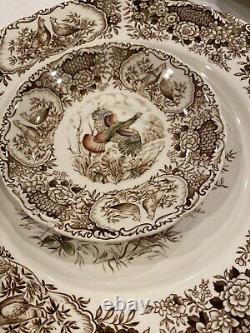 JOHNSON BROS. WILD TURKEYS 2 DINNER PLATES, C&S -VTG- England-9 Sets Available