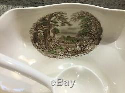 JOHNSON BROTHERS Old Britain Castles Soup Tureen Brown Multi Color w Ladle