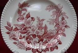 JOHNSON BROTHERS china APPLEBLOSSOM Pink 26pc Set/Lot cup/dinner/bread/soup