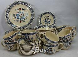 JOHNSON BROTHERS china HEARTS & FLOWERS old granite 59-piece SET SERVICE for 12