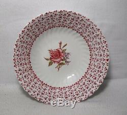 JOHNSON BROTHERS china ROSE BOUQUET Pink pattern 7pc Hostess/Serving Set