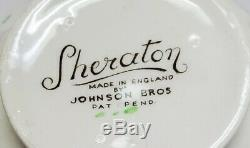 JOHNSON BROTHERS china Sheraton LOT of 50 pcs Overall crazing, NO chips, dinner+