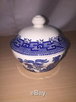 JOHNSON BROTHERS china WILLOW BLUE England 1883 21 Piece Set dinner/cup/bowl/mug