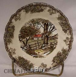 JOHNSON Brothers FRIENDLY VILLAGE Made in England 89-piece SET with SERVICE PLATES