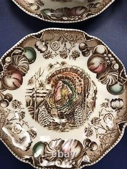 JOHNSON Brothers His Majesty Turkey Teacup & Saucer 10 Sets/ Bonus Teacup Mint