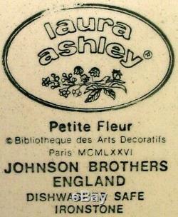 JOHNSON Brothers PETITE FLEUR BURGUNDY PINK pattern 9-piece HOSTESS Serving SET