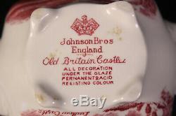 Johanson Bros Old British Castles Rot Speisegeschirr Service Kaffee Porzellan