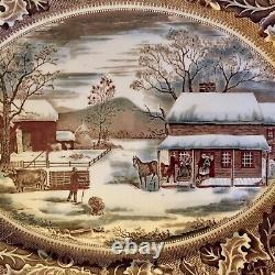 Johnson BrosHome for ThanksgivingTurkey PlatterHistoric AmericaEnglandEC