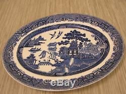 Johnson Bros England Blue Willow Earthware 46 Piece Set Plate Bowl Cup Saucer