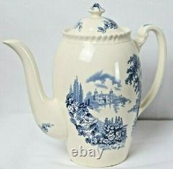 Johnson Bros. England Castle On The Lake Hand Engraved Teapot