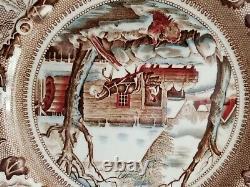 Johnson Bros England Historic America ChinaThanksgiving Xmas, platter&plates