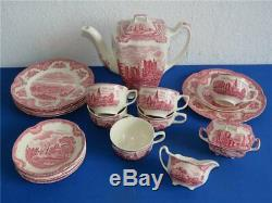 Johnson Bros England Kaffeeservice Teeservice Old Britain Castles kompl. 6 Pers
