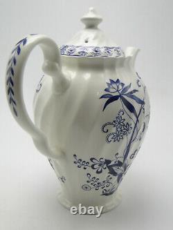 Johnson Bros England Nordic Blue Onion Coffee Pot w Lid 9 1/2in Ironstone China