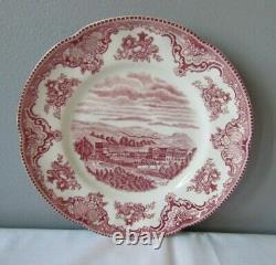 Johnson Bros. England Old Britain Castles Pink Dinnerware Lot of 17