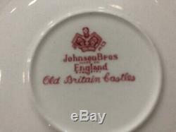 Johnson Bros England Old Britain Castles rot Service Kaffee 52 teille 10 pers