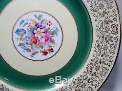 Johnson Bros England Pareek Foral Bouquet Gold Scrolls 12 Service Dinner Plates