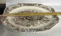 Johnson Bros England Windsor Ware Large Wild Turkeys Serving Plate Platter