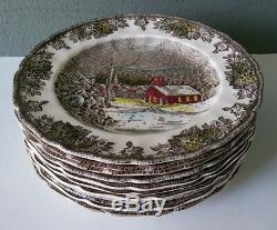 Johnson Bros Friendly Village 11 School House Dinner Plates 9 7/8 England