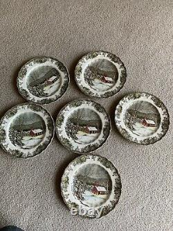 Johnson Bros Friendly Village 6 School House Dinner Plates Dishes England