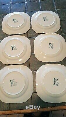Johnson Bros Friendly Village CHRISTMAS, SET of 6 Square Salad Plates NR