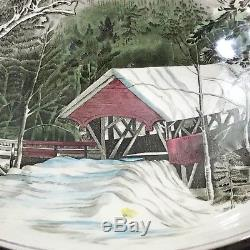 Johnson Bros Friendly Village Punch Bowl Set w 12 Ice House Cups 3 tall