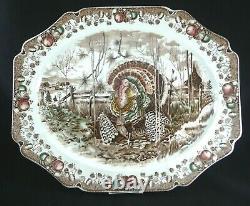 Johnson Bros HIS MAJESTY 17.25 x 14.25 Turkey Platter England Thanksgiving