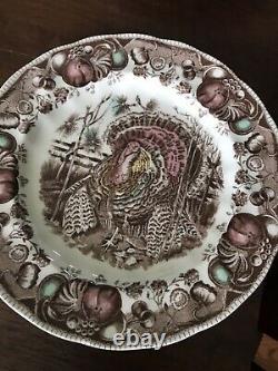 Johnson Bros HIS MAJESTY Thanksgiving 4 Dinner & Salad Plates, Bowls, Cups, Sauc