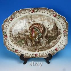 Johnson Bros His Majesty 20½ Turkey Platter, 8 Dinner Plates 10¾ inches
