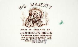 Johnson Bros His Majesty 6 DINNER PLATES Turkey, England, EXC