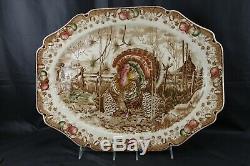 Johnson Bros His Majesty Turkey Platter 20 1/4 Thanksgiving Holiday