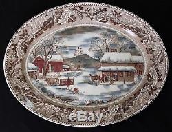 Johnson Bros Historic America Home for Thanksgiving 20 Oval Serving Platter
